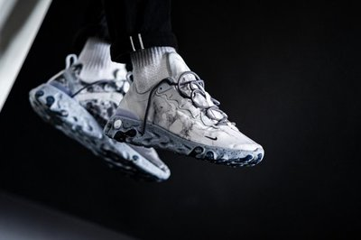 NIKE REACT ELEMENT 55 KENDRICK LAMAR 灰色 大理石 舒適 氣墊 CJ3312-001