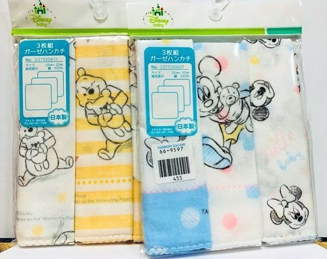 41+現貨不必等 紗布巾 日本製 Y拍最低價 正版授權 迪士尼 米奇 米妮 小熊維尼 手帕 洗澡巾