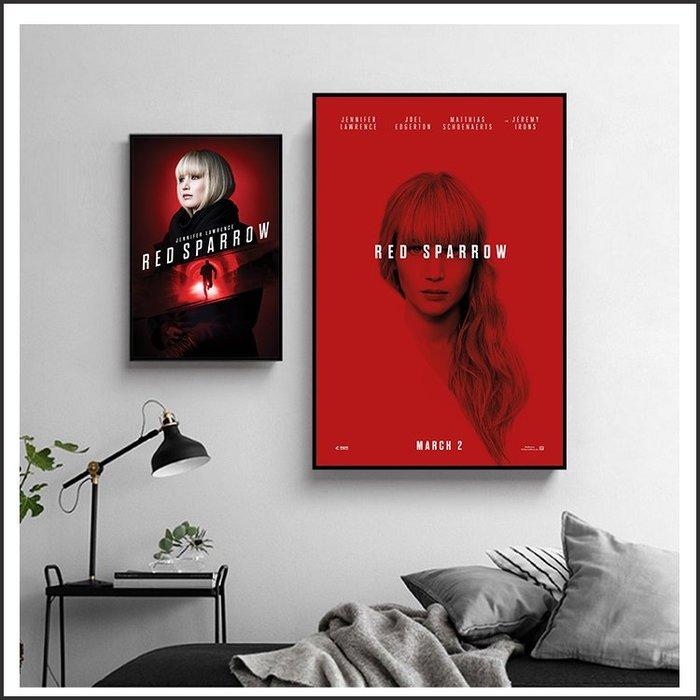 日本製畫布 電影海報 紅雀 Red Sparrow 掛畫 嵌框畫 @Movie PoP 賣場多款海報~