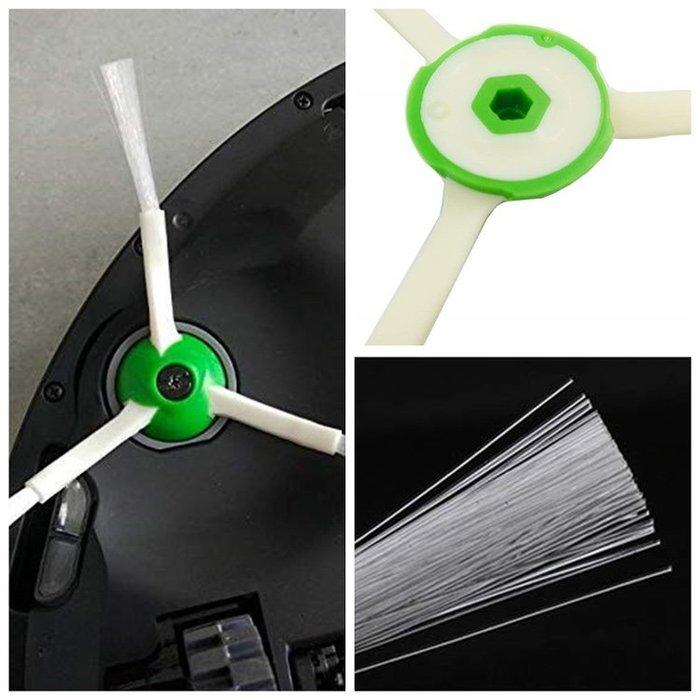 台灣現貨💎掃地機耗材iRobot Roomba(i7/i7 Plus/E5/E6/E7)掃地機器人三角毛刷邊刷-2入