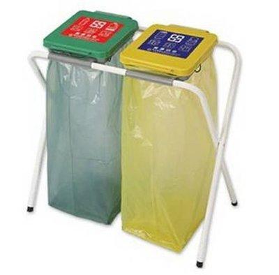 二分類資源回收架/分類架/垃圾桶/垃圾袋架/垃圾架/X架/二分類/環保垃圾桶架/X型架/2分類/資源回收/垃圾分類