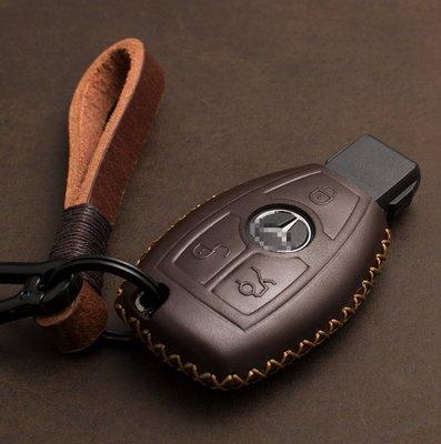 有車以後汽配~BENZ賓士鑰匙包C級S級E級C200L GLA GLC GLE GLK 汽車用真皮套