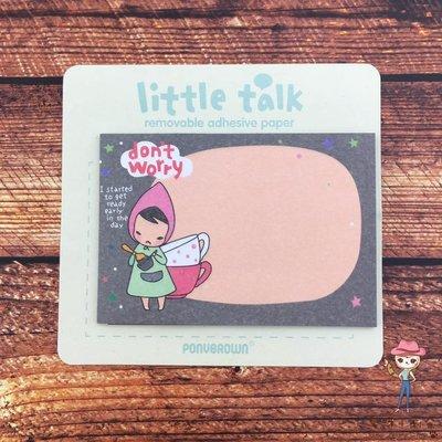 愛呀!莉奈♥現貨韓國Little talk don't worry Pony Brown可愛便利貼 便條紙
