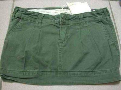 美國Abercrombie & Fitch女裝 AF Haley 00號橄欖色小彈性休閒短短包裙含運在台