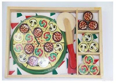 【晴晴百寶盒】木製 製作PIZZA披薩遊戲 角色扮演 親子早教 益智遊戲玩具 安全平價促銷 禮物禮品 CP值高 P125