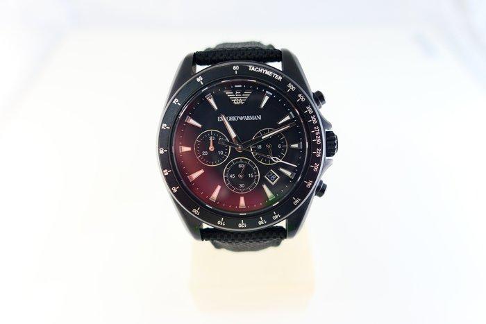 [吉宏精品交流中心]ARMANI 亞曼尼 AR6131 石英 皮帶 三眼 計時碼錶 男錶(盒卡全)