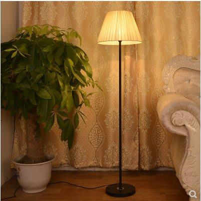 現代簡約落地燈臥室客廳led立式臺燈 創意北歐遙控護眼書房床頭燈 黑色款(不含燈源)