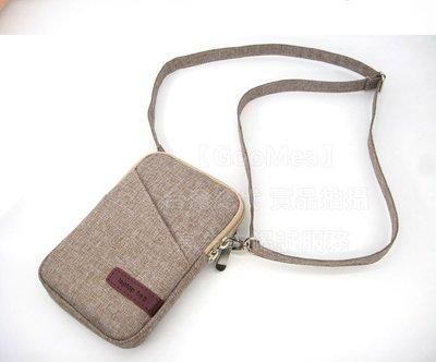 【GooMea】3免運OPPO歐珀Fond X2 Fond X2 Pro亞麻布拉鍊款 手拿袋手機殼 手機套手拿斜背 咖啡