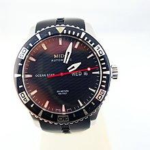 [吉宏精品交流中心]MIDO 美度 海洋之星 黑面 200米 膠帶 機械錶 男錶(盒卡全)