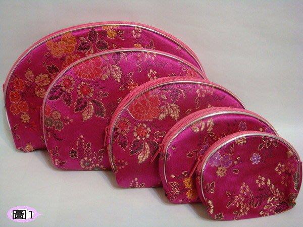 【佳樺子母包】復古中國風子母五件錢包5疊包5套化妝包(5個一組)拉鍊元寶錢包批發