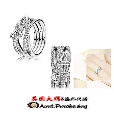 美國大媽代購 pandora 潘多拉 多環蝴蝶結戒指 925 Charms 美國正品代購