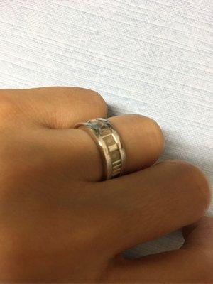 Tiffany & Co 羅馬數字戒指 8號 純銀 戒指 內徑1.5cm