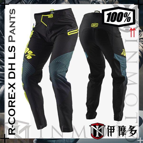伊摩多※美國RIDE 100% 越野褲 林道 下坡車 R-CORE-X DH LS 黑綠藍 43001-001