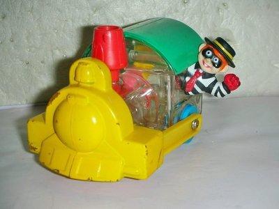 A.(企業寶寶玩偶娃娃)少見1996年麥當勞發行漢堡神偷開火車造型公仔距今已有18年的歷史!