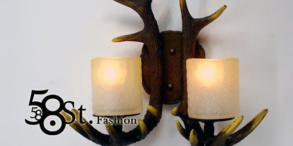 【58街】設計師款式「鹿角壁燈」低調時尚設計師的燈。複刻版。GK-356