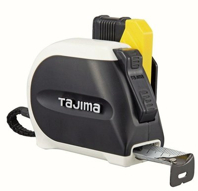 [CK五金小舖] TAJIMA 雙面全公分快速安全扣 25MM 5.5米 捲尺 強化黑爪 SFSS255 田島 寬 白鋼厚