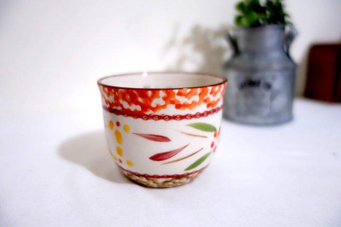 LB 藍百合 手繪花草陶瓷水杯 茶杯 1/3茶杯 品茗杯 花草茶杯 量杯現貨