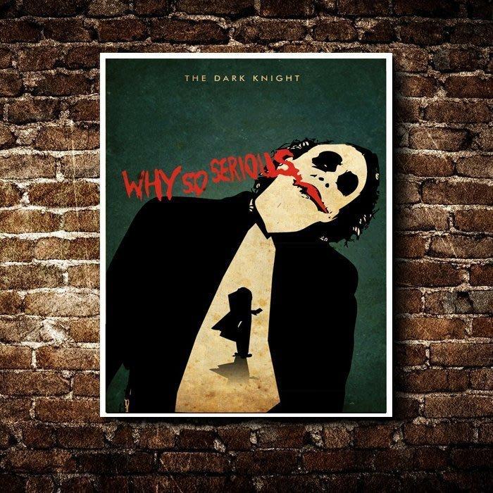 ART。DECO  蝙蝠俠 黑暗騎士 小丑 掛畫 藝術 電影 漫威
