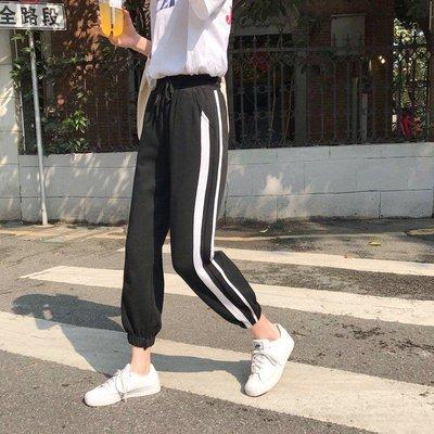 ZIHOPE 褲子五分褲短褲其他款式怪味少女褲子顯瘦2019夏季新款寬松束腳高腰運動學生哈倫休閒褲女ZI812