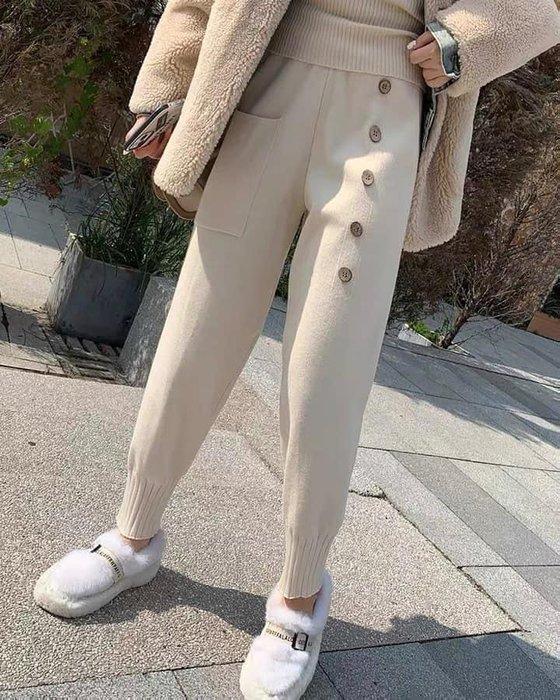 日系木釦.重磅針織奶奶褲——𝕄𝕒𝕕𝕖 𝕚𝕟 𝕜𝕠𝕣𝕖𝕒——