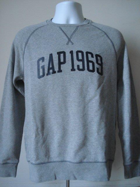 【天普小棧】GAP 1969 logo sweatshirt厚長袖T恤 運動衫 大學T 灰色 現貨S號