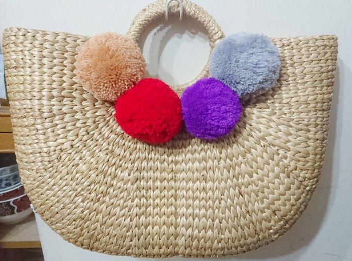 泰國正品(現貨) - 全新收工編織的竹藤包包,超美的喔