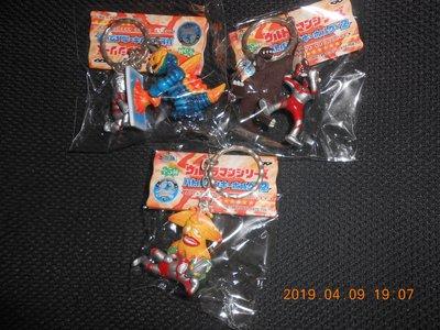 日本進口@@@【鹹蛋超人與怪獸對打=鑰匙圈】1組全5款(非龍騎.酷賈.顎門.) @@@