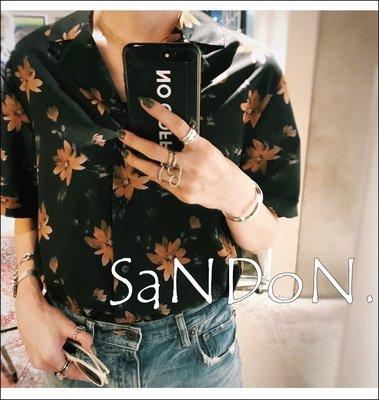 SaNDoN x『MOUSSY』早秋新品 官網完售復古古調染色花朵暈染襯衫上衣 sly 180720