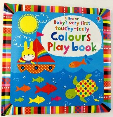 兒童翻翻書童書:Colours Play Book 寶寶初學顏色英文早教認知書故事書
