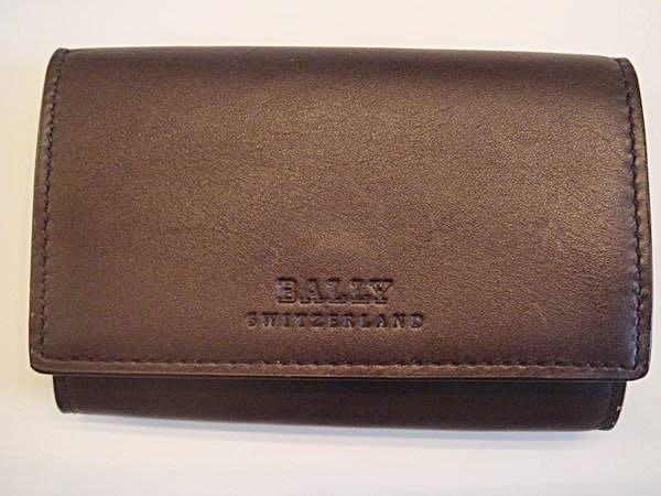 大降價!!全新瑞士名牌 Bally 經典全皮革零錢包,低價起標無底價!本商品免運費!