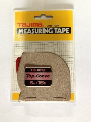 (日本製)TAJIMA 捲尺 米尺 5m-16ft 測量工具 耐用 標準