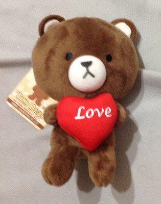 全新Tom bear 心型love吊飾