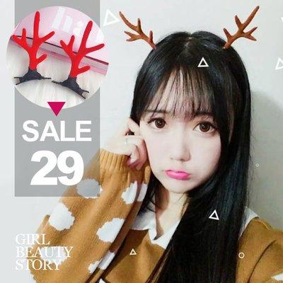 超哥小舖【A8021】現貨森林系賣萌麋鹿角髮夾式聖誕節小鹿創意頭飾萬聖節飾品派對用品交換禮物