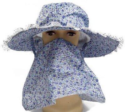 全新 春夏遮陽防曬遮臉太陽帽子女夏天惠安帽戶外騎車帽採茶帽