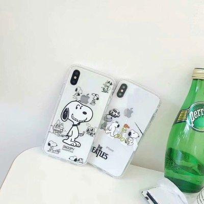 (現貨) iPhone X 手機殼 超萌卡通 史努比 透明全包防摔軟保護殼