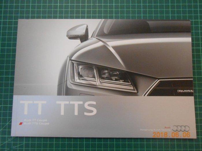 《 AUDI TT TTS 奧迪跑車系精美型錄 》 95成新【 CS超聖文化2讚】