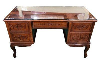 樂居二手家具(中) 便宜2手傢俱拍賣RW122309*紅木5抽主管桌 (中)會議 書桌 電腦桌 中古辦公家具