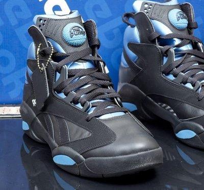 REEBOK SHAQ O'NEAL OG 原版復古 俠客一代 黑藍配色籃球鞋 Big Bang 6,7年級的回憶