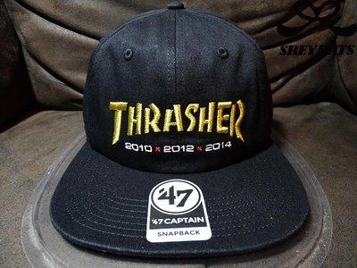 [SREY帽屋]THRASHER X 47 BRAND X 舊金山巨人 金色LOGO 限量聯名款 美國限定 軟版 棒球帽