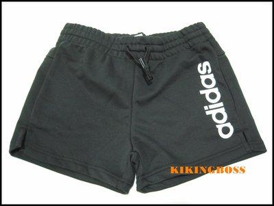 【喬治城】ADIDAS 女款運動 綁帶 短褲(黑色)DP2393