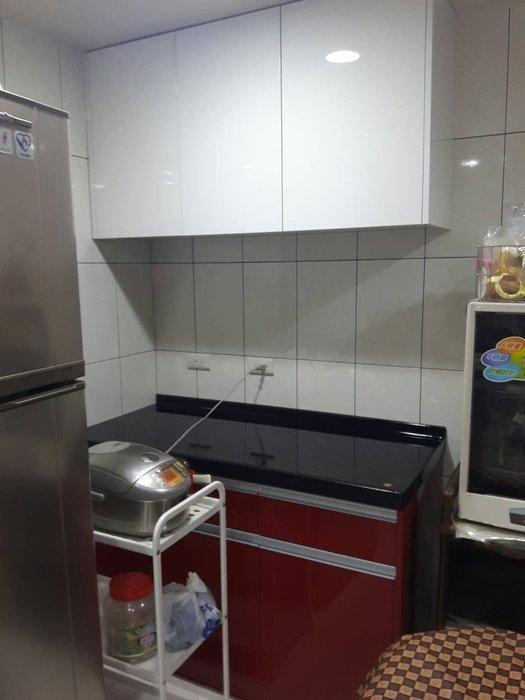 完美廚具 流理台 130公分 平台櫃 LG人造石 櫃體 結晶烤漆門板 G型隱藏式把手 家送緩衝門 完工價20500元