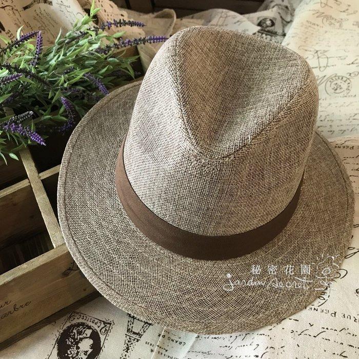 簡約個性金色M字母紳士帽/男女皆可戴--秘密花園