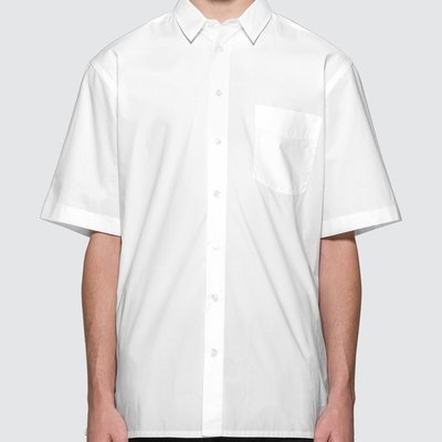 Raf Simons - Short Sleeved Shirt With Back Print 男背後印花襯衫 超低折扣代購中