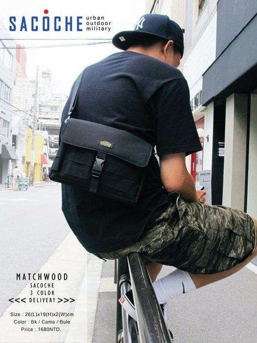【Matchwood直營】Matchwood Sacoche 斜背小物袋 全黑款 側背肩背手拿小包 開學限時優惠
