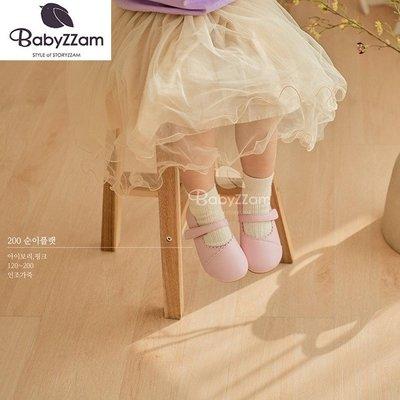 『※妳好,可愛※』妳好可愛韓國童鞋 BABYZZAM~正韓 巴黎甜美花邊娃娃鞋  花童鞋