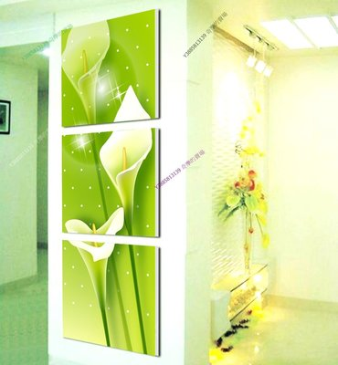 【60*60cm】【厚1.2cm】黃色花卉-無框畫裝飾畫版畫客廳簡約家居餐廳臥室牆壁【280101_029】(1套價格)