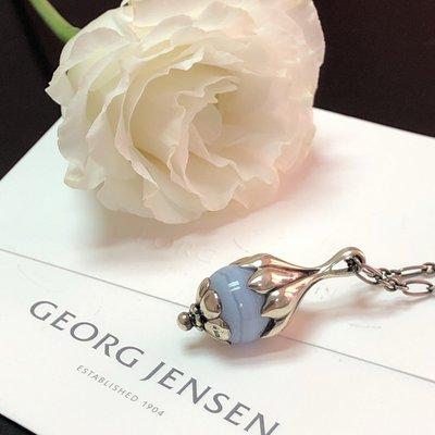【小麥的店】GEORG JENSEN 喬治傑生1991年年度項鍊復刻版-藍紋瑪瑙