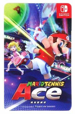 [裘比屋]特-NS 瑪利歐網球 王牌高手 特典 悠遊卡貼 026