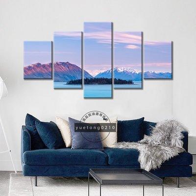 現貨促銷~無框畫 一組五入 北歐ins掛畫 人間靜土 新西蘭 特卡波湖 溫泉 冰山 自然風景裝飾畫 生日禮物 壁貼 無框