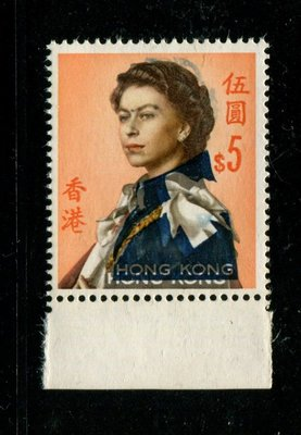 錯體1962 伊利沙白女皇$5藍色大移位
